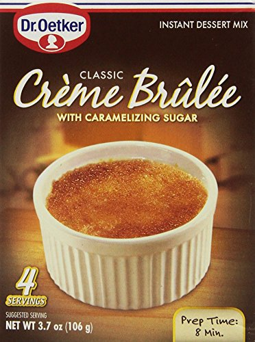 Dr. Oetker, Creme Brulee Mix, 4 Servings, 3.7oz (Pack of 3) ()