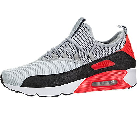 Nike Mens Air Max 90 EZ Running Shoes Pure Platinum/Wolf Grey/Black/Infrared AO1745-002 Size 11 (Nike Air Max 90 Leather Black Grey)