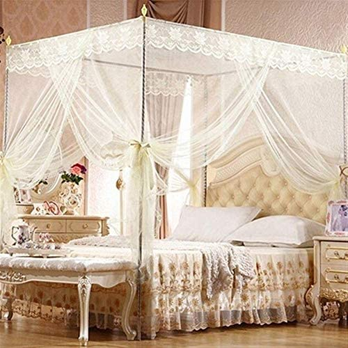 Bed Canopy Mosquito Protection Net Four Corner Post No Frame Repellent Tent Insect Reject Bed Curtain Bed Tent For Bedroom Decorative