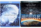 Mysterious Aliens Double Feature - Independence Day: Resurgence & Prometheus Blu Ray Sci-Fi Bundle