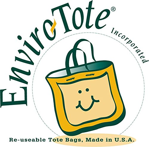 Set of 25 10oz Cotton Canvas Shoulder Tote Bags - Reusable Made in USA (Natural) by Enviro-Tote (Image #3)