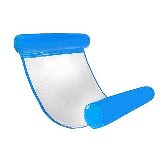 Tumbona hinchable para piscinas de Chengstore, cómoda, portátil, flotante y ligera. Silla o hamaca de aire para niños y adultos (incluye bomba de aire ...