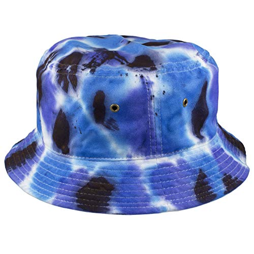 Gelante 100% Cotton Packable Fishing Hunting Sunmmer Travel Bucket Cap Hat (Large/X-Large, Tie Dye Color: E) -