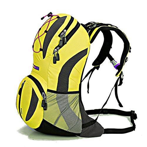 Cuckoo Unisex 22L Wasserdichte Hydratation Blase Pack Camping Radfahren Radfahren Rucksack Wandern leichte Daypack Gelb