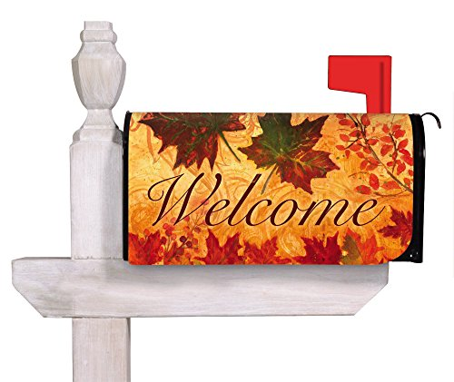 Fall Leaves Mailbox Cover (18 in. x 24 in.) by Gifted Living