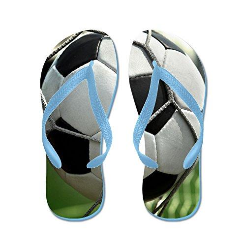 Cafepress Fotbollsmål - Flip Flops, Roliga Rem Sandaler, Strand Sandaler Caribbean Blue