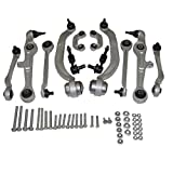 New 13 PCS Suspension and Steering Kit: 4 Upper Control Arms With Ball Joints, 4 Lower Control Arms With Ball Joints and Bushings, 2 Sway Bar Links, 2 Outer Tie Rod Ends and Installation Hardware