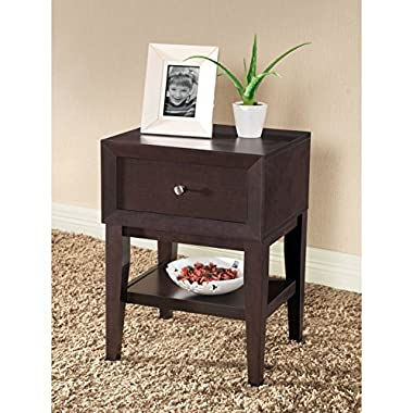 Metro Shop Gaston Brown Modern Nightstand