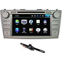 TOCADO In Dash Car DVD Receiver with 8 Display, GPS Navigation Double 2Din Car Stereo with Can-bus Bluetooth CD DVD Radio for Toyota Camry 2007 2008 2009 2010 2011 + Backup Camera