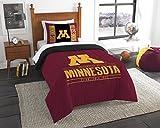 Minnesota OFFICIAL Collegiate, Bedding, Modern Take Twin Printed Comforter (64x 86) & 1 Sham (24x 30) Set