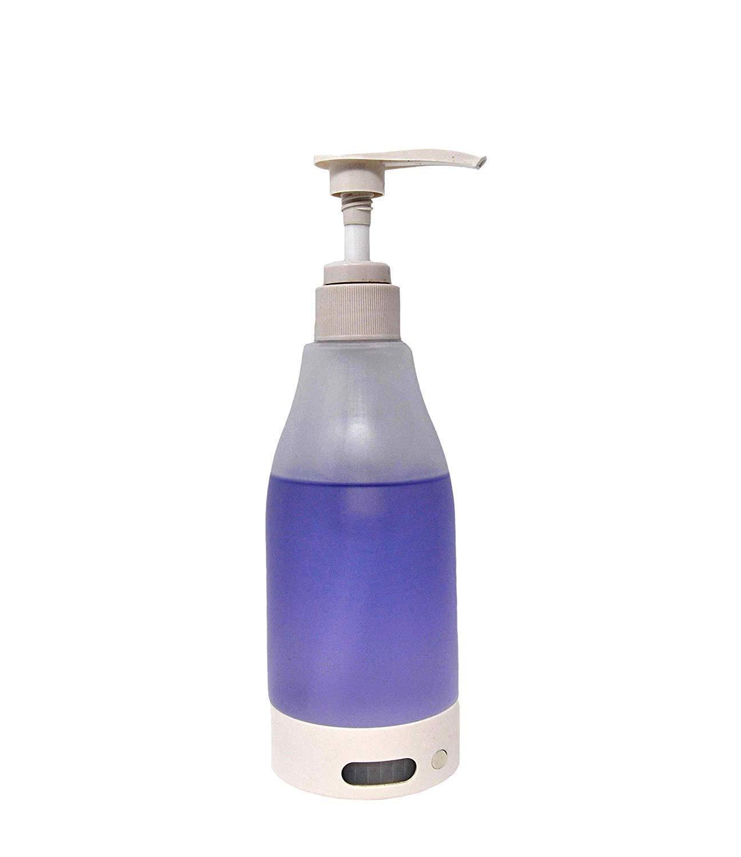 JC Dispensador de jabón con luz LED inalámbrica de 7 colores ...