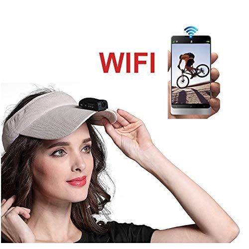 - 1080P 60fps Hunting Camera Clip ok Hang on Hat Surveillance Camera Hat Brim Mini DVR Sport Camera Action Camera 125 Degree Lens for Hiking Shooting Golf Cycling Archery