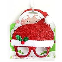 RainBabe Glasses Felt Rhinestone Decorative Christmas Decorations for Party Festival Birthday 20cm