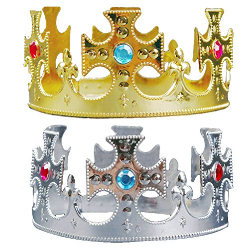 LUOEM Birthday Party Hats Prince Crown Hats Kids Tiara Party Favors Supplies Halloween Cosplay Costume Accessories (Prince Charming Halloween Costume Baby)