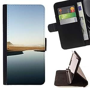 KingStore / Leather Etui en cuir / Apple Iphone 6 / Río del desierto - Minimalista