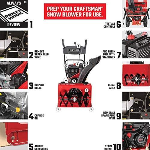 Craftsman CMXGZAM241002 Season Snow Blower Starter Handle, Black