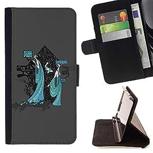BullDog Case - FOR/Samsung Galaxy Note 3 III / - / ice cream spiders women art deco painting /- Monedero de cuero de la PU Llevar cubierta de la caja con el ID Credit Card Slots Flip funda de cuer