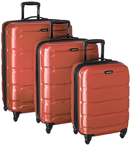 Samsonite Omni PC 3 Piece Set Spinner 20 24 28, Burnt Orange