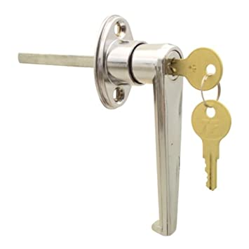 Ideal Security Inc Skl9201 Keyed L Garage Door Lock Chrome Plated