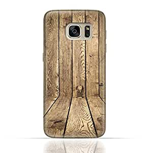 Samsung Galaxy S7 Edge TPU Silicone Case with Wood Texture Old Panels Pattern