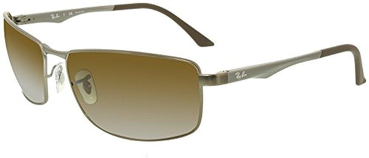 9949c53450 Amazon.com  Ray-Ban RB3498 Sunglasses Black   Green 61mm   Cleaning Kit  Bundle  Clothing
