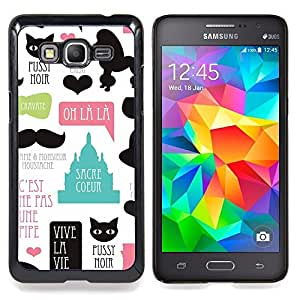 "Planetar ( Pussy Cat caniche de París francesa France Amor"" ) Samsung Galaxy Grand Prime G530F G530FZ G530Y G530H G530FZ/DS Fundas Cover Cubre Hard Case Cover"