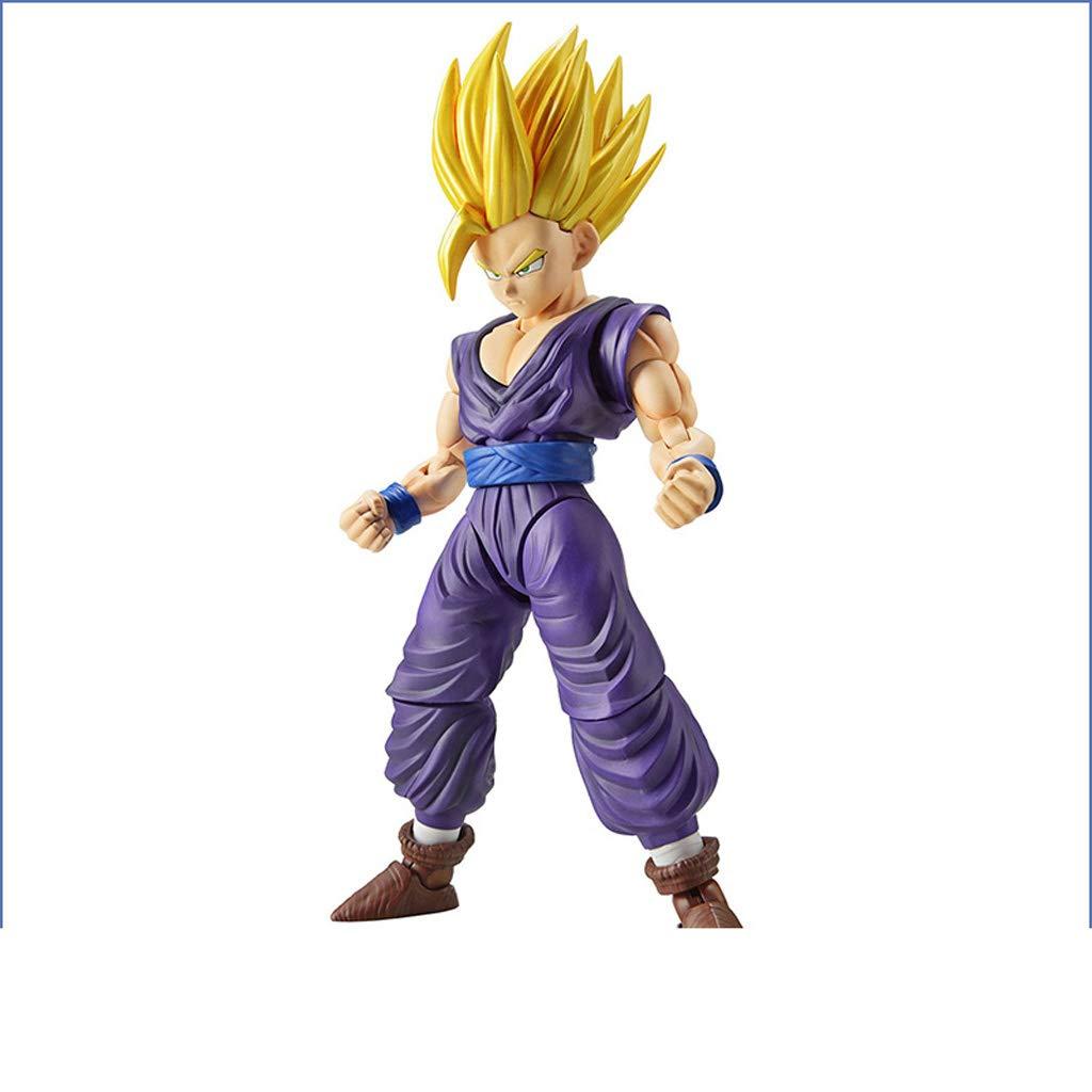 KLEDDP Personaggi del Modello del Giocattolo Anime Dragon Ball Arti Marziali assemblaggio Ornamenti Souvenir Oggetti da Collezione Artigianato Super Saiyan Sun Wukong 12.5 cm Statua del Giocattolo