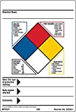Hazardous Communication and Right-to-know Labels, Coated, Paper, 4'' x 5.87'', Black/Blue/Red/Yellow On White (Pack of 100)