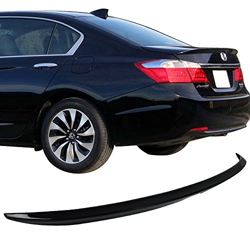 Trunk Spoiler Fits 2013-2016 Honda Accord | Factory Style ABS Painted #NH731P Crystal Black Pearl Rear Tail Lip Deck Boot Wing By IKON MOTORSPORTS | 2014 - Honda Deck Accord