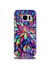 Qissy®PC Art Designed colorful Pattern Edge Hard Case for Samsung Galaxy S7