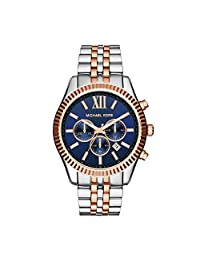 Michael Kors MK8412 Men's Lexington Wrist Watch, Blue Dial