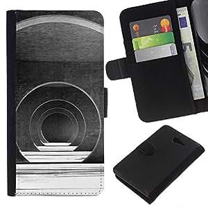 KLONGSHOP // Tirón de la caja Cartera de cuero con ranuras para tarjetas - Salón de Arquitectura Futurista - Sony Xperia M2 //