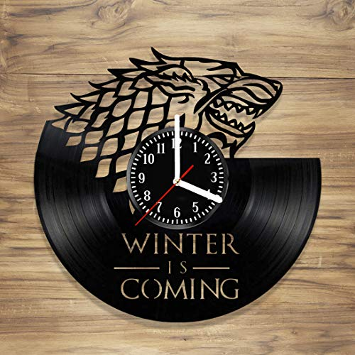 Drama Queen Dragon - Game of Thrones Vinyl Wall Clock Stark House Targaryen Winter is Coming Design Art Decorate Home idea for Him Her (12 inches)