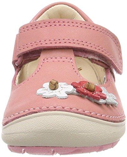 Clarks Softly Blossom, Sandalias Punta Cerrada Para Niñas Rosa (Baby Pink Lea)