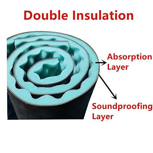 BXI 2 in 1 Soundproofing Foam - Eggcrate Acoustic Foam Panel - Double Noise Insulation - Super Dense - 13.4'' X 39.4'' X 1''