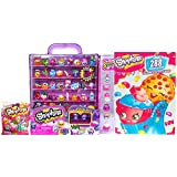 Shopkins 3 Pc Toy Bundle Includes Pink Glitzi Collectors Case with 8 Exclusive Shopkins, A 288 Coloring & Activity Book and 1 Shopkin Season 5 Surprise Character In A Petkin Backpack Packet. Ideal Supermarket Shopping Collection Gift