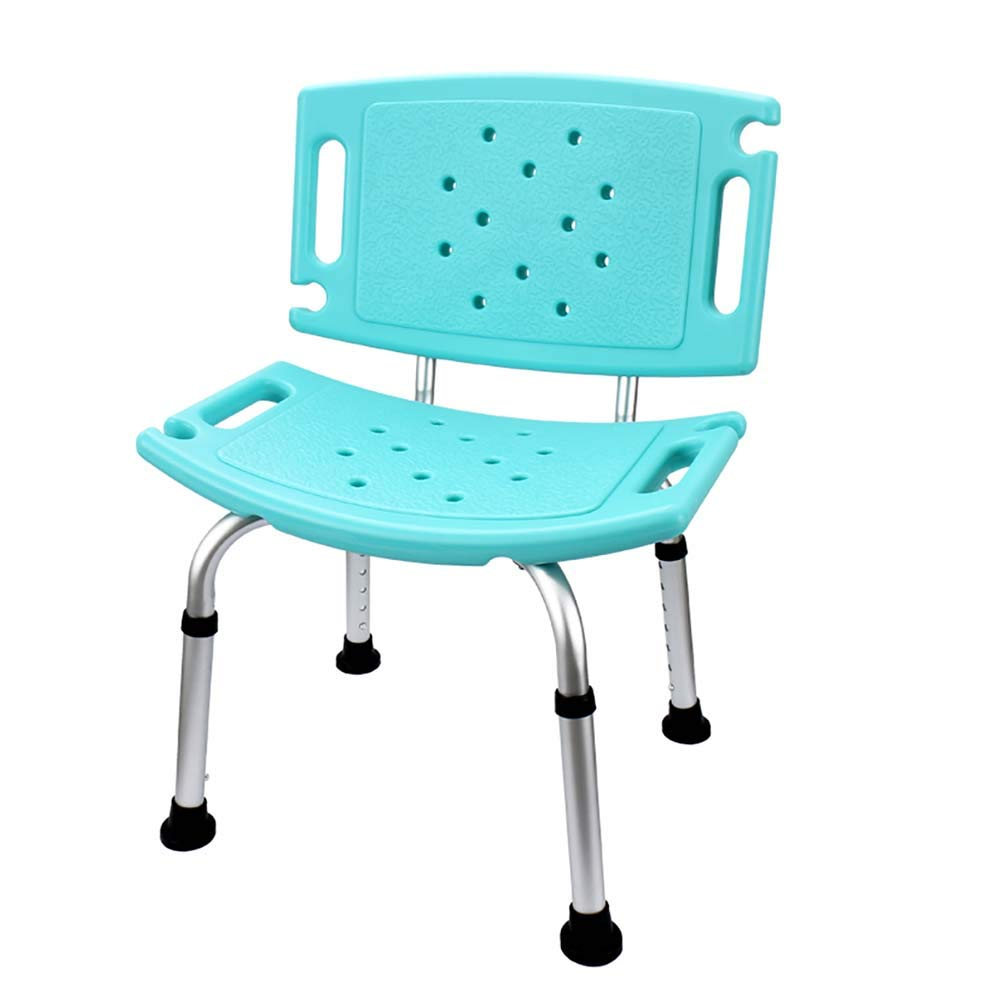 Shower Stool Chair Bench Seat Portable Bath Chair Bathtub Shower Bench Back Non-Slip Seat for Elderly & Disabled, Tool-free Assembly (Color : Style-1) YXX
