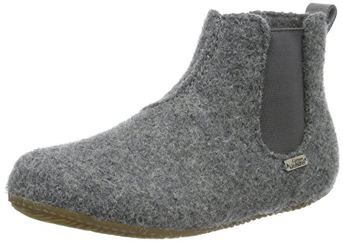Living Kitzbühel Unisex-Kinder Chelsea Boots Unifarben Hohe Hausschuhe Grau (grau 610)