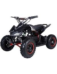 500 Watt Electric Four Wheeler ATV Kids Sport Quad for Children w/Reverse - Black/Red
