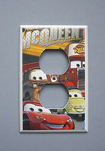 Disney Cars Lightening McQueen Mater OUTLET switch plate - Outlet Mcqueen