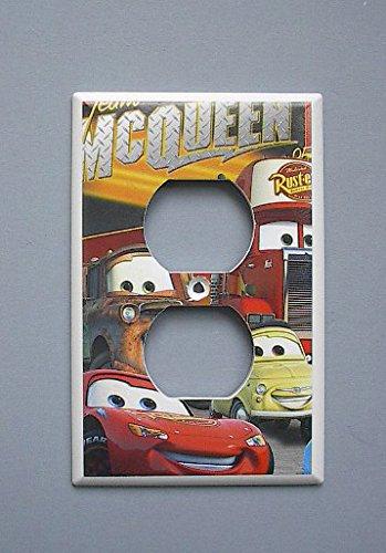 Disney Cars Lightening McQueen Mater OUTLET switch plate - Mcqueen Outlet