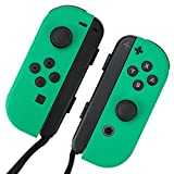 "[skinfact] JOYCON skins ""Leaf Green"" for Nintendo Switch controller JapanMade Quality Premium textured decal wrap skinseal"