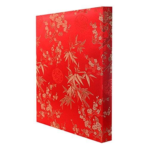 Lotto di 2 album fotografici Blossom adesivi con 50 pagine bianche