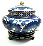 Chinese Art / Chinese Collectibles: Chinese Cloisonne Jar - Twin Dragons