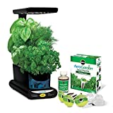 Countertop Herb Garden AeroGarden Sprout LED with Gourmet Herb Seed Pod Kit, Black