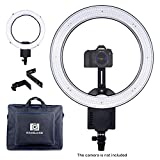 NanGuang 19'' LED Ring Light Dimmable Ring Light with Adjustable Camera Bracket Dual-purpose Carrying Bag for Makeup Youtube Video Studio Shoot Selfie and More