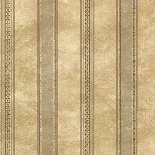 (Chesapeake SRC76197 Castine Tuscan Stripe Wallpaper,)