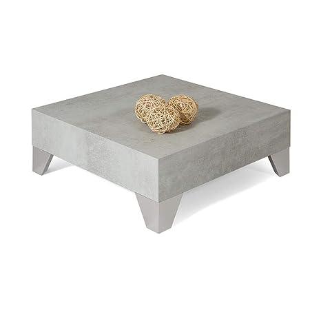 Mobili Fiver Coffee Table Evolution 60 Grey Concrete 60 X 60 X
