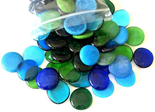 (Glass Gems, 4.75 Lb. Bag, Shades of Blues & Greens )
