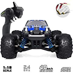 WHY SHOULD YOU CHOOSE OUR REMOTE CONTROL CAR?AMAZING FAST:Fast, high speed and powerful motors allow you to reach speed of up to40+km/h.MORE FUN:Enjoy miniature off-road toy car, much fun compared to 2WD series.LONG PLAYING TIME:It ...